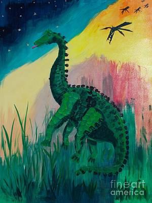Dinosaur Art Print by PainterArtist FIN