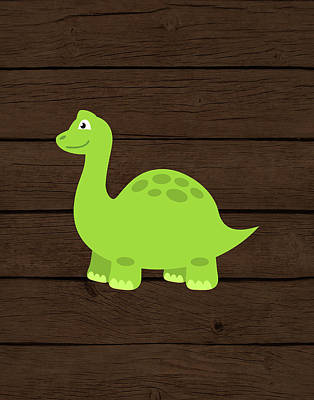 Dinosaur Wall Art - Painting - Dinosaur Wood I by Tamara Robinson