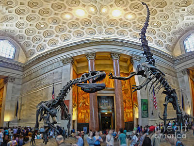 Photograph - Dinosaurs At The Natural History Museum by Gregory Dyer