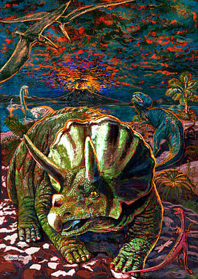 Dinosaurs Art Print by Dan Terry