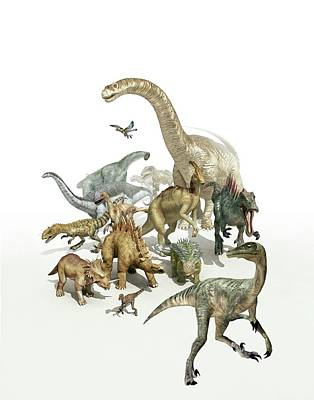 Triassic Photograph - Dinosaurs by Mikkel Juul Jensen