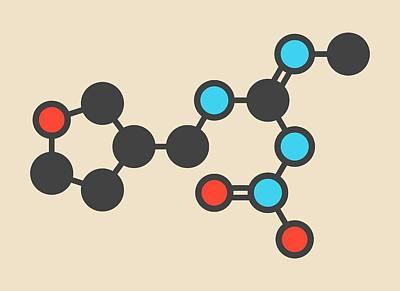 Dinotefuran Insecticide Molecule Art Print by Molekuul
