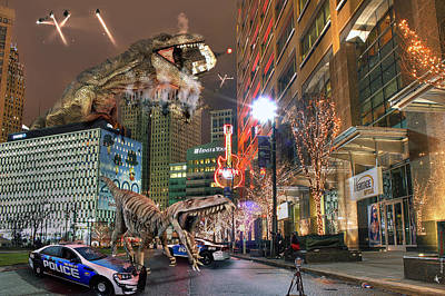 Photograph - Dinotroit by Nicholas  Grunas