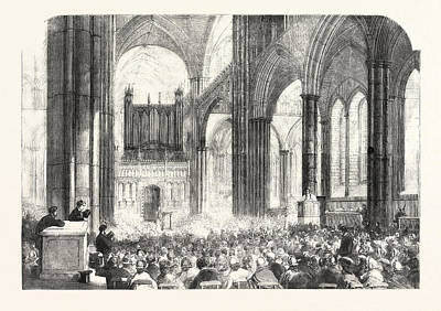Parish Drawing - Diocesan Meeting Of Parish Choirs At Salisbury Cathedral Uk by English School