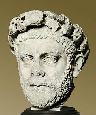 Statue Portrait Photograph - Dioclecian 245-316. Roman Emperor by Everett