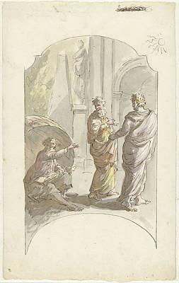 Diogenes Asked Alexander Not To Stand In His Light Art Print