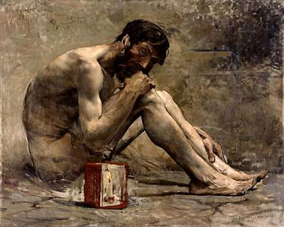 Painting - Diogenes by Jules Bastien Lepage