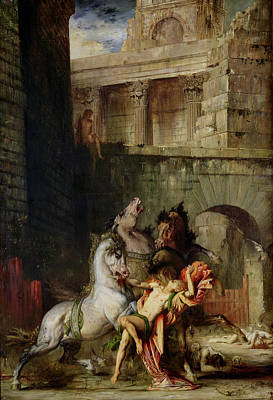 Diomedes Being Eaten By His Horses, 1865 Oil On Canvas Art Print by Gustave Moreau