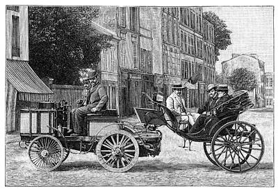 Dion Steam Carriage Art Print by Science Photo Library