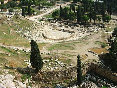Photograph - Dionysus Amphitheater by Ellen Henneke