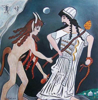 Dionysus And Pan Original by Karen Serfinski