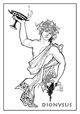 Drawing - Dionysus by Steven Stines