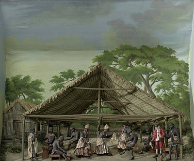 Slaves Drawing - Diorama Of A Slave Dance, Gerrit Schouten by Quint Lox