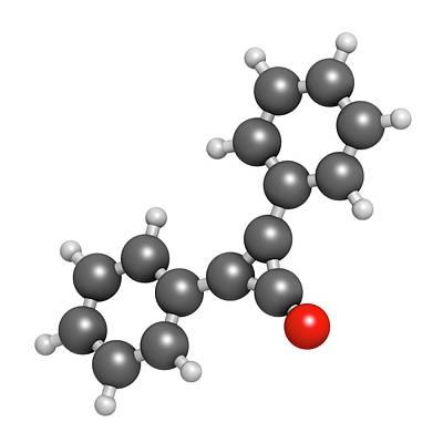 Diphencyprone Alopecia Drug Molecule Art Print
