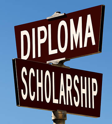 Photograph - Diploma And Scholarship by Phil Cardamone