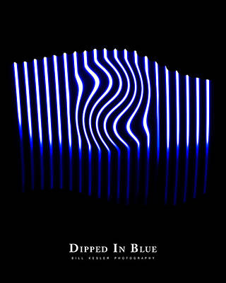 Photograph - Dipped In Blue by Bill Kesler