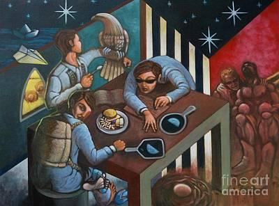 Crisis Painting - Diprosopus by Paul Hilario