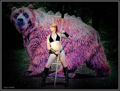 Dire Bear Art Print
