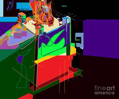Holy Alphabet Digital Art - Directions 2a by David Baruch Wolk