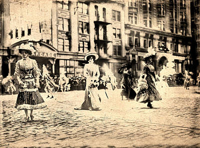 Directoire Gown - Philadelphia Mummers 1909 Art Print by Bill Cannon