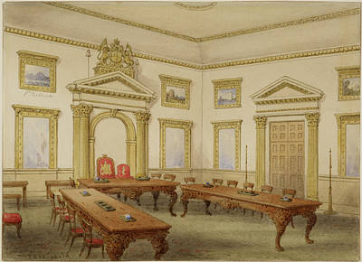 East India Photograph - Director's Court Room At East India House by British Library