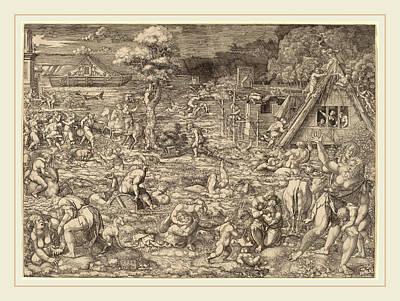 Dirk Drawing - Dirk Jacobsz Vellert Flemish, Active 1511-1544 by Litz Collection