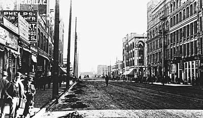 Downtown Dirt Spokane C. 1895 Art Print by Daniel Hagerman
