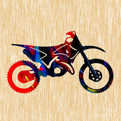 Motorcycle Mixed Media - Dirt Bike  by Marvin Blaine