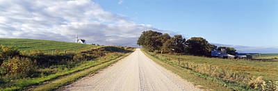 Dirt Roads Photograph - Dirt Road Leading To A Church, Iowa, Usa by Panoramic Images