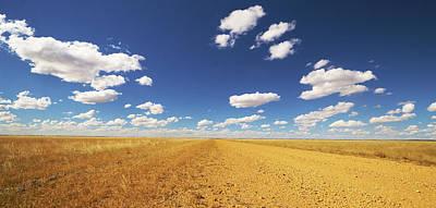 Dirt Roads Photograph - Dirt Road Through Plain Queensland by Martin Willis