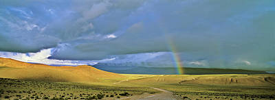 Andes Wall Art - Photograph - Dirt Road With Rainbow, Altiplano by Martin Zwick