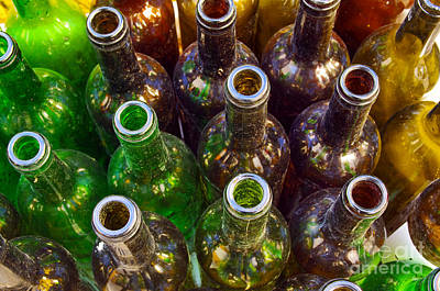 Trash Photograph - Dirty Bottles by Carlos Caetano