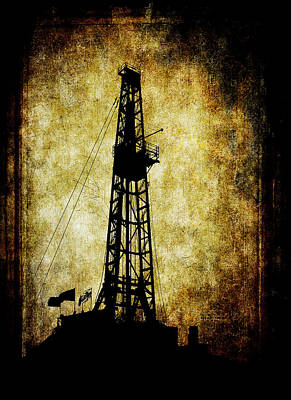 Tower Digital Art - Dirty Derrick by Daniel Hagerman
