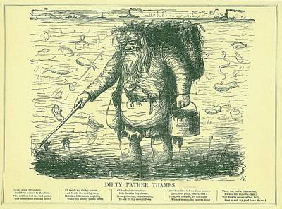 Dirty Father Thames Art Print