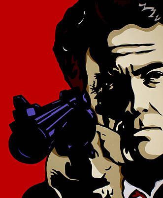 Clint Eastwood Art Painting - Dirty Harry by Ian  King