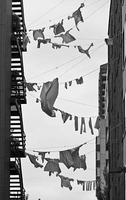 Dirty Linen Photograph - Dirty Laundry by Scott Campbell