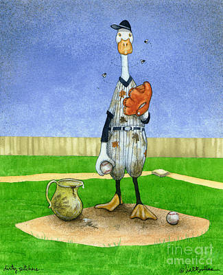 Dirty Pitchers... Art Print by Will Bullas