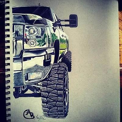 Nitti Drawing - Dirtymax by Aaron Bussard