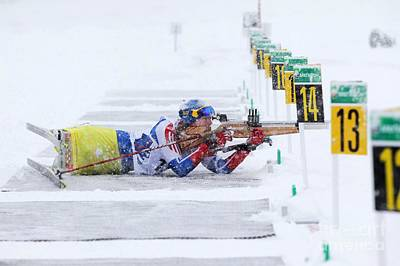 Disabled Sports Photograph - Disabled Athlete Shooting In Biathlon by Ria Novosti