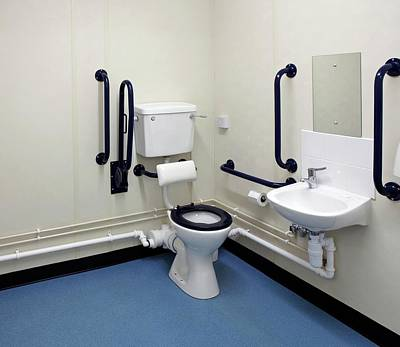 Disabled Washroom And Lavatory Print by Mark Sykes