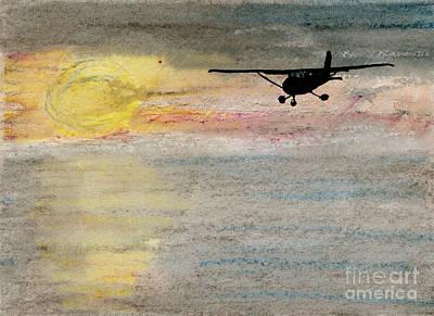 Disappearing Horizon Art Print by R Kyllo