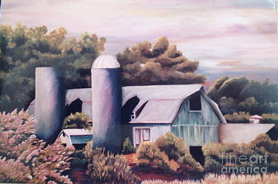 Pastel Barns Painting - Disappearing Illinois Barn -volo by Susan Kronowitz