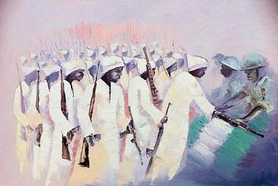 Art Print featuring the painting Disarmament  by Oyoroko Ken ochuko