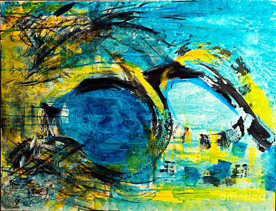 Painting - Disarray In Yellow And Blue by Nicole Philippi