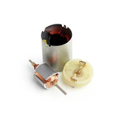 Disassembled Dc Motor Print by Science Photo Library