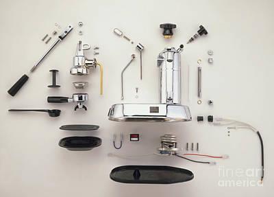Disassembled Espresso Machine Art Print