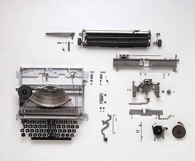 Disassembled Typewriter Art Print