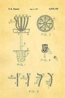 Disc Golf - Frisbee Golf Patent Art 1977 Art Print by Ian Monk