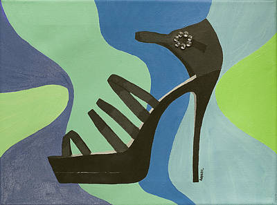 Disco Stiletto Art Print by Annabel Harrison