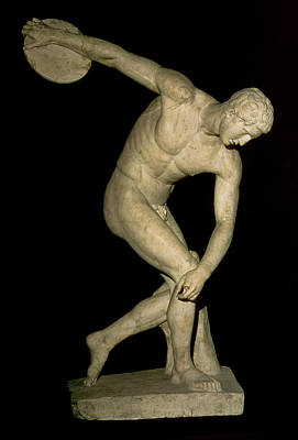 Track And Field Photograph - Discobolus  by Myron